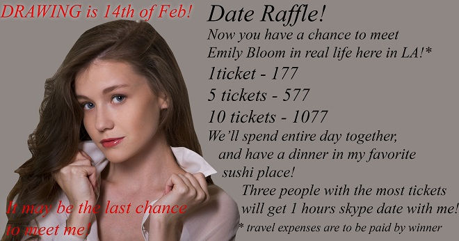MFC Emily Bloom date raffle, meet her now