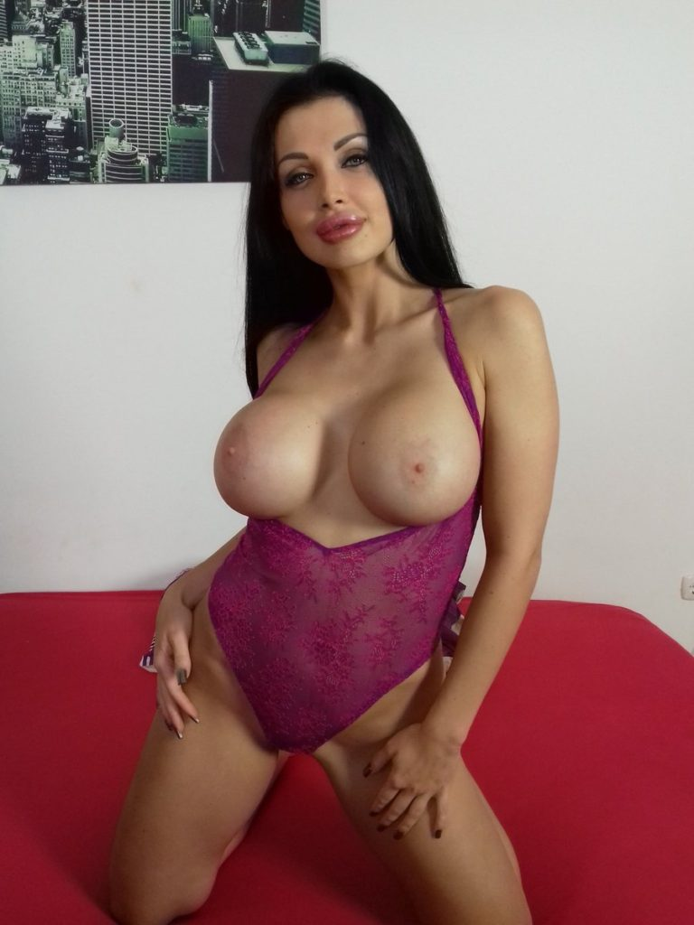 pornstar Aletta Ocean topless for Immoral Live