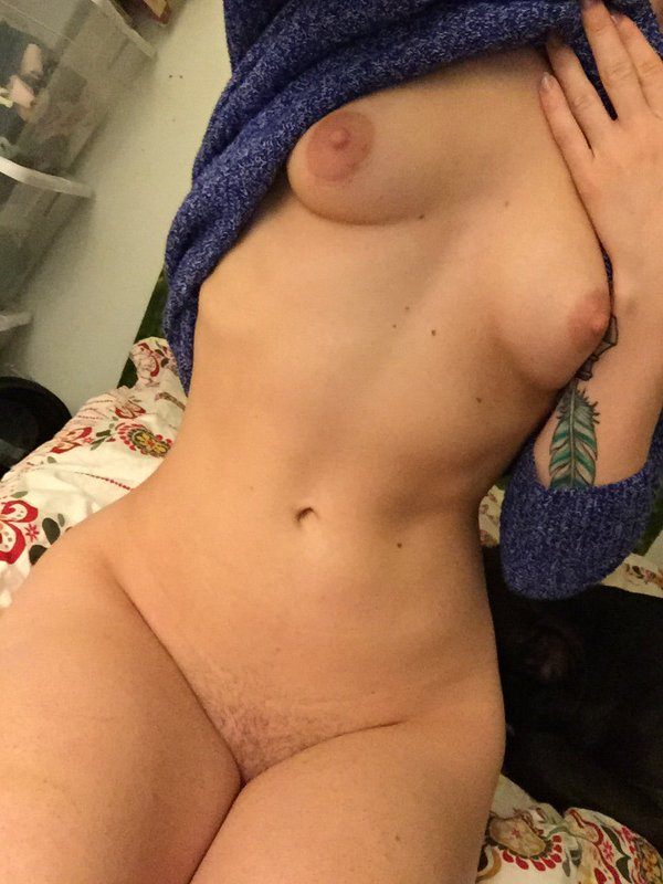 nude body selfie by porn star Alina West