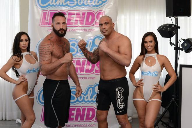 Alex Nicolson vs Ricco Rodriguez + ring girls Reya Sunshine and Kelsi Monrow