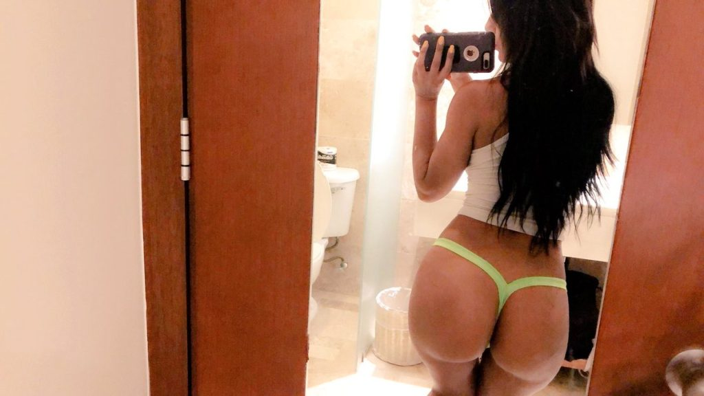 thong selfie by Demi Rouge