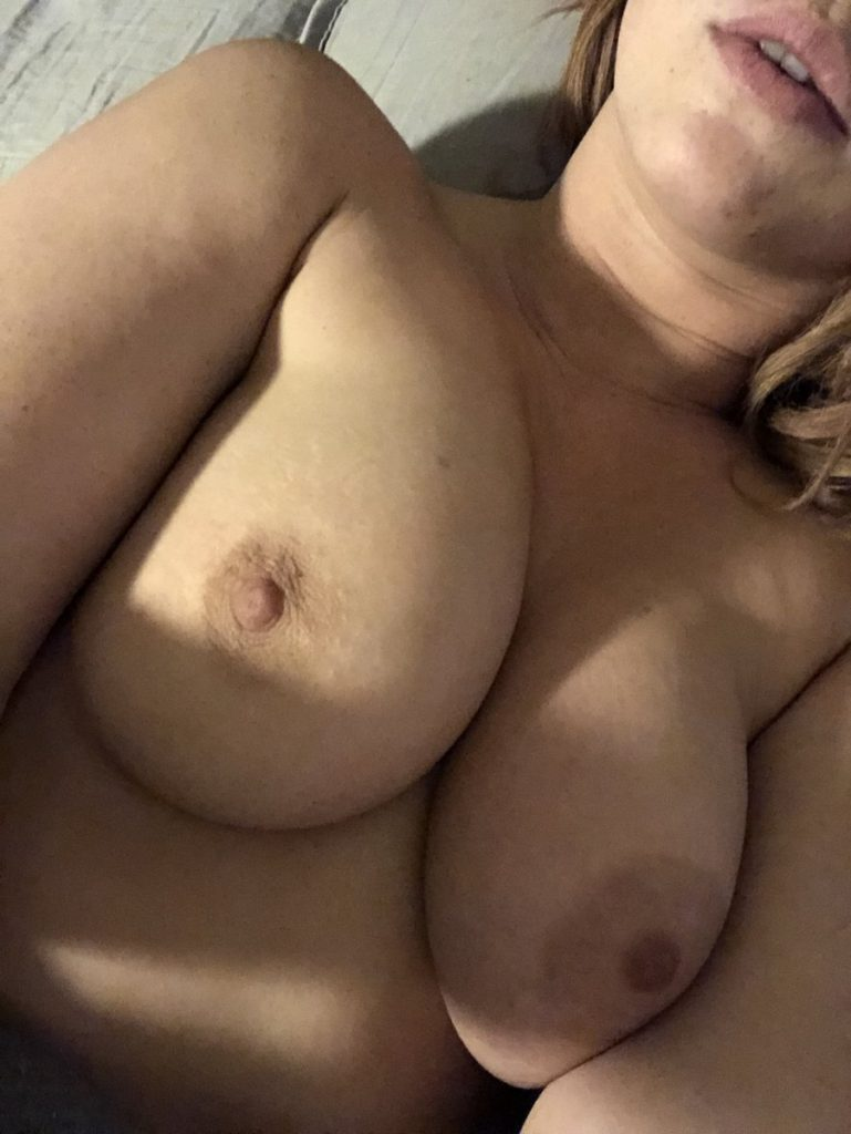 nude boob selfie by Edyn Blair