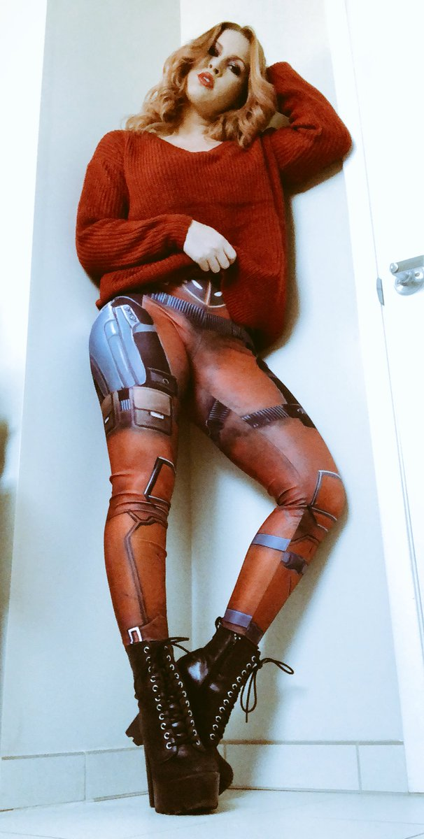 Edyn Blair in Deadpool leggings
