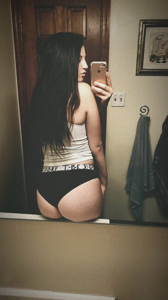 booty in panties selfie by Kinsley Anne