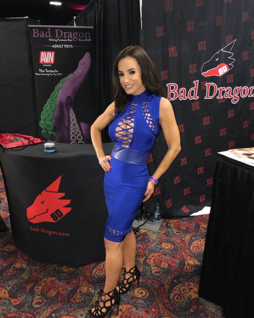 Lisa Ann in sexy dress at Exxxotica Denver