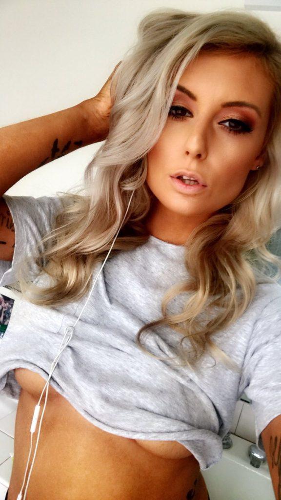 underboob selfie by CherryPimps.com porn star Victoria Steffanie