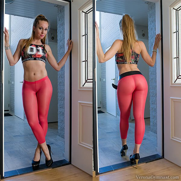 webcam model Verona van de Leur in yoga pants