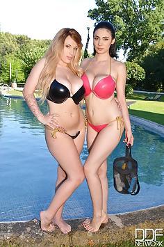 LiLy Madison & Luna Amor bikini sex