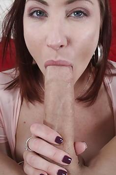 Thick redhead Sophia Locke creams on the cock!