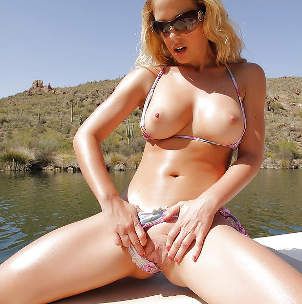 Cherie DeVille in Lake Masturbation