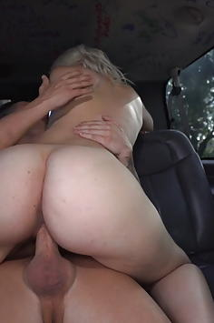 Rharri Rhound in Big White Ass on the Bang Bus
